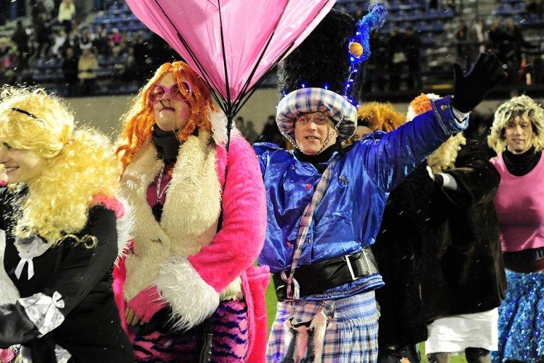 Feestprogramma carnavalsmatch
