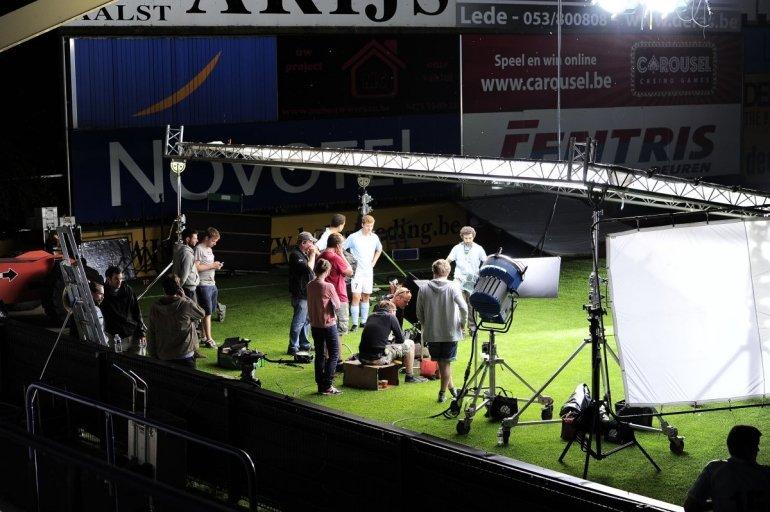 Pierre Cornelisstadion decor voor reclamespot