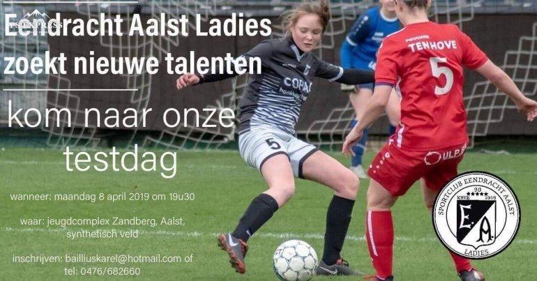 Talentendag bij de Eendracht Aalst Ladies